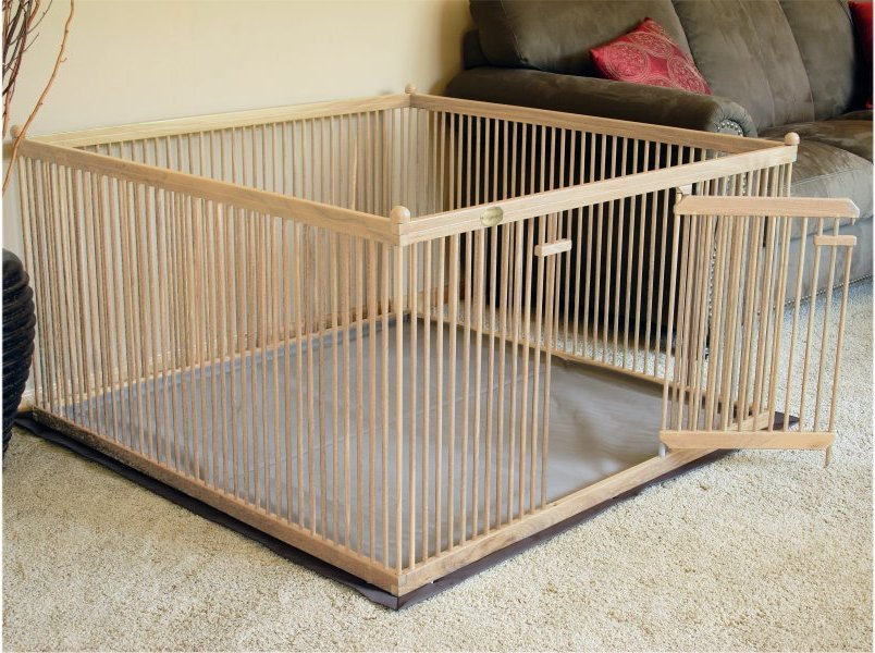 The best wooden dog crates pupperton 439 x 439 wood pet pen for Wooden dog pens for inside