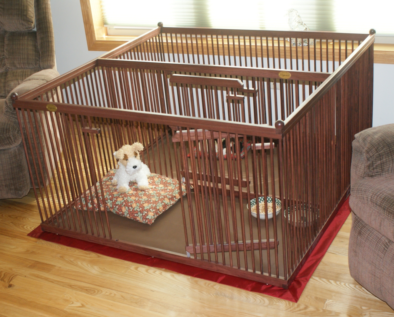The best wooden dog crates pupperton 439 x 439 double for Wooden dog pens for inside